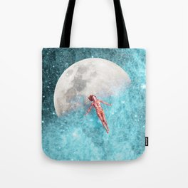 FLOATING TO THE MOON Tote Bag