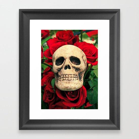 Love and death Framed Art Print