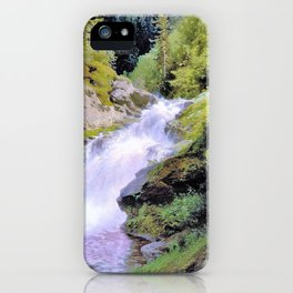 Winona Falls - Hermann Ottomar Herzog iPhone Case