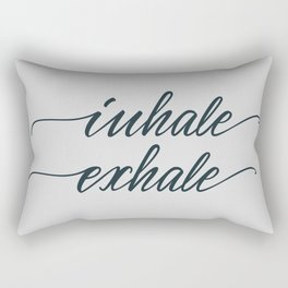 Inhale, exhale Rectangular Pillow