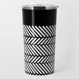 Herringbone Boarder Travel Mug