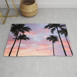 Palm Trees and Sunset Rug