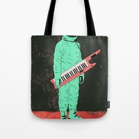 space jam Tote Bags featuring Space Jam by Chase Kunz