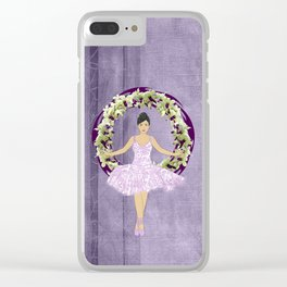 Ballerina Orchid Wreath Clear iPhone Case