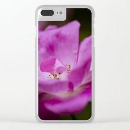 Fuchsia rose Clear iPhone Case