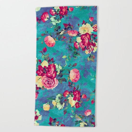 Flowers & Birds II Beach Towel