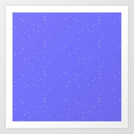 Lavender Blue Shambolic Bubbles Art Print