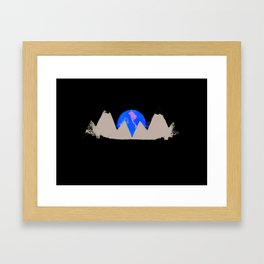 White Peak Framed Art Print
