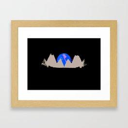 White Peak Framed Art Print