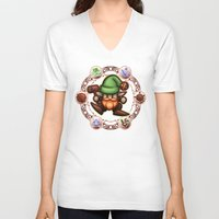 gnome V-neck T-shirts featuring Gnome  by likelikes