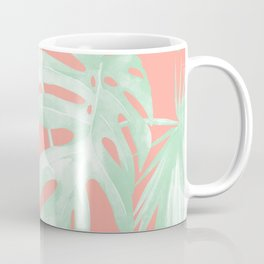 Island Love Coral Pink + Light Green Coffee Mug