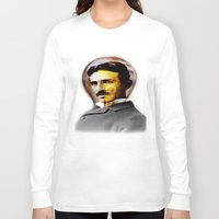 tesla Long Sleeve T-shirts featuring Tesla by EclipseLio