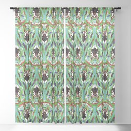 Abstract feathers 1g Sheer Curtain