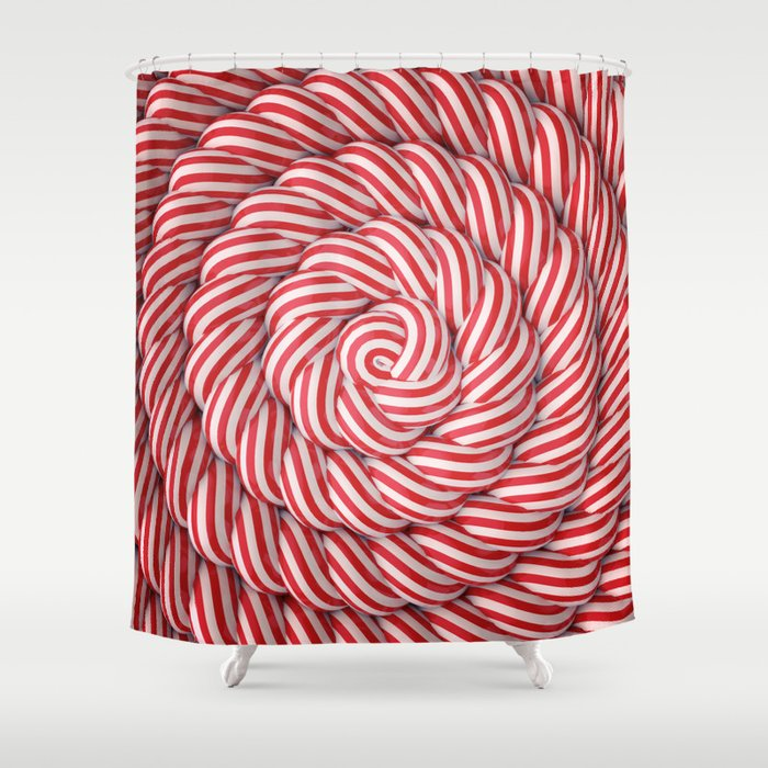 The Candy Way Shower Curtain
