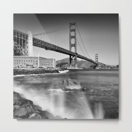Golden Gate Bridge with breakers Metal Print