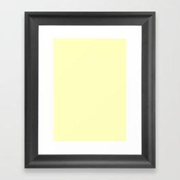 Very pale yellow Framed Art Print