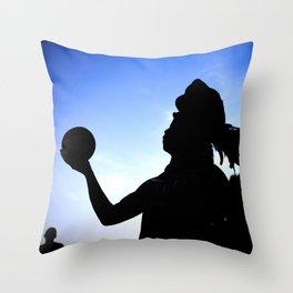 Mayan Ball Player Throw Pillow