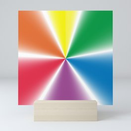 Rainbow Gradient Wheel Mini Art Print