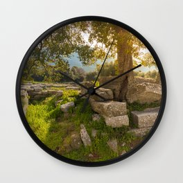 ruins of ancient city of Messena, Peloponnese Wall Clock