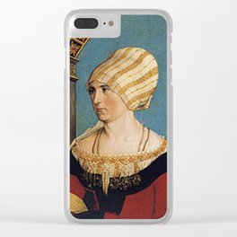 Dorothea Meyer by Hans Holbein the Younger Clear iPhone Case