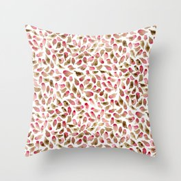 House Finch Pattern Throw Pillow