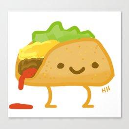 Happy Taco Canvas Print