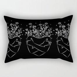Self love blooming  Rectangular Pillow