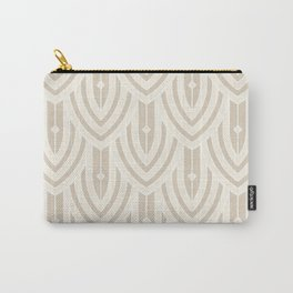 Deco Peacock - Cream Carry-All Pouch