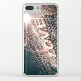 LET LOVE SHINE Clear iPhone Case