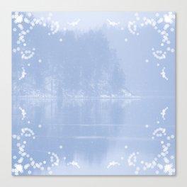 Winter reflection landscape #decor #society6 #buyart Canvas Print