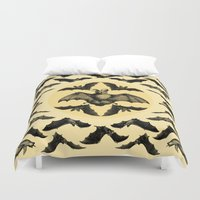 bats Duvet Covers featuring Bats Pattern by DIVIDUS