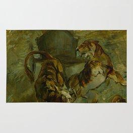 """Henri de Toulouse-Lautrec """"Allégorie. Le printemps de la vie"""" Rug"""