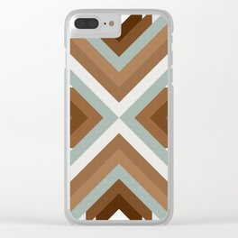 Geometric Art with Bands 01 Clear iPhone Case