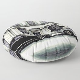 THE STREET OF LONDON IN GREYS Floor Pillow