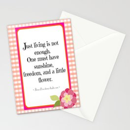 Sunshine, Freedom, and Flower Stationery Cards