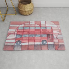 London - Double Decker Red Bus Rug
