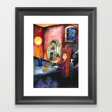 The Mirror Framed Art Print