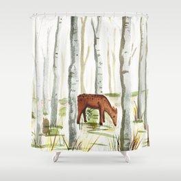 Doe in Aspens Shower Curtain