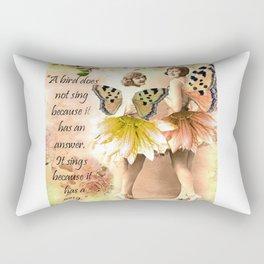 A Bird has a song Rectangular Pillow