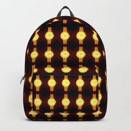 Luminous Wristwatches on Black Illustration Backpack