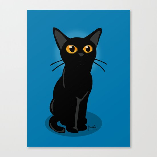 Looking at something Canvas Print