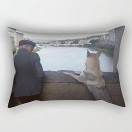 On the Ponte Vecchio, Florence Rectangular Pillow