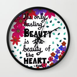 The Only Lasting Beauty Wall Clock