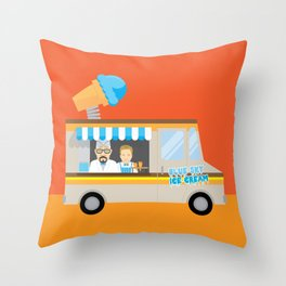Breaking tradition - Walt and Jesse make ice cream Throw Pillow