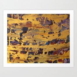 Golden Paint Art Print