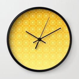 Gold Gradient Citrus Pattern Wall Clock