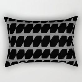 Black Dog Tooth Design Rectangular Pillow