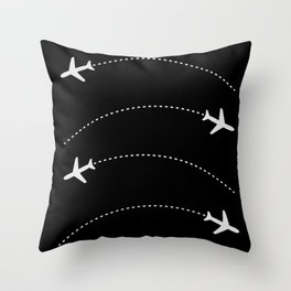 Traveling with Planes Throw Pillow