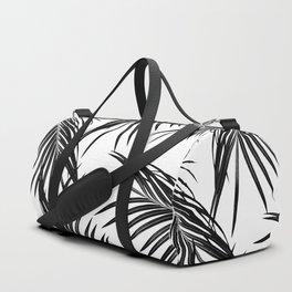 Black Palm Leaves Dream #1 #tropical #decor #art #society6 Duffle Bag