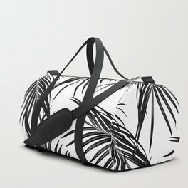 Black Palm Leaves Dream #1 #tropical #decor #art #society6 Duffle Bag